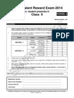 Ftre 2014 Sample Paper Class 9 Paper 2
