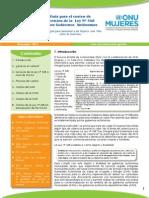 Guía para el costeo de servicios de la Ley Nº 348 de los Gobiernos Autónomos