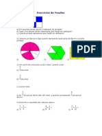 Exercícios de Frações 1