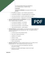 Articulo y Adverbios