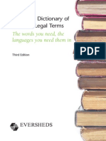 European Dictionary Selected Legal Terms