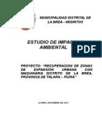 Impacto Ambiental Recuperacion de Zonas de Expacion Urbana