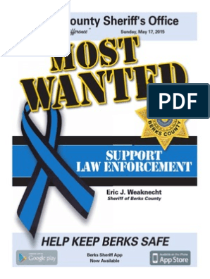 Most Wanted in Berks | Sheriffs In The United States | Police