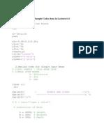 Samlpe Codes