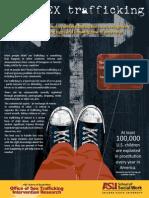 Teen Sex Trafficking Awareness Training Brochure for Teens