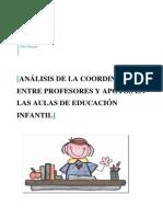 Análisis de la coordinación entre profesores y apoyos en las aulas de educación infantil