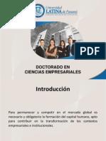Doctorado en Ciencias Empresariales 30 10 13