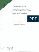 Memorandum of Association (MoA)-1