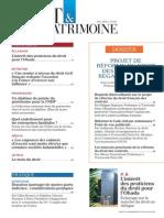 Sommaire Droit & Patrimoine n° 247 Mai 2015