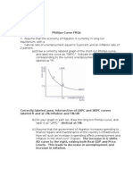 Phillips Curve FRQs Answers