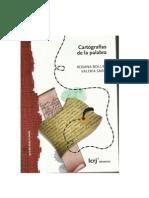 Cartografías de La Palabra Cap 1 Sardi y Bollini