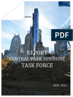 Central Park Sunshine Report