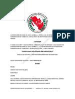 Convocatoria Campeonato Nacional de SAMBO 2015, México