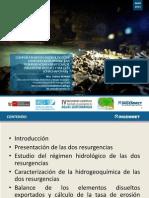 Comportamiento Hidrológico e Hidrogeoquímico de las Resurgencias Kársticas de Palestina (Rioja) y Soloco (Chachapoyas).Por Fabien RENOU
