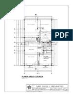 Arquitectonico  plano arquitectonico  vivienda de 1 piso