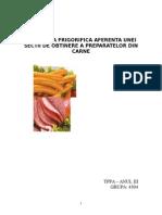Instalatia Frigorifica Aferenta Unei Sectii de Obtinere a Preparatelor Din Carne (1)