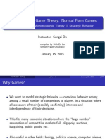 Lecture 3 - Normal Form Games