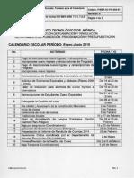 Calendario Escolar Enero-Junio 2015