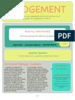 curriculum - exploring & shaping judgement