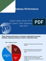 Subway Delay Presentation
