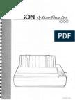 Epson ActionPrinter 4000 User's Manual