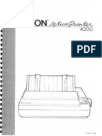 Epson ActionPrinter 4000 User's Manual