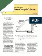 Freon Solar Collector e1901-1985