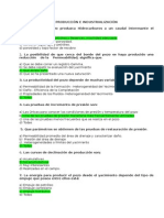 Cuestionario Producciòn e Industrializaciòn