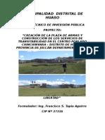 Perfil Tecnico de Inversion Publica