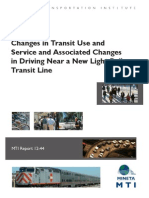 Transit and Driving Changes Near New Light Rail Lines