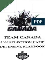 Team Canada Defensive Playbook