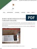 Horno Microondas No Funciona Teclado Cableado de Panel _ Blog Fallaselectronicas