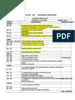 Calendarizacion Historia 3º 2015