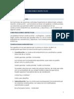CONSTRUCCIONES Y FUNCIONES SINT+üCTICAS