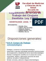 Reglamento de Ley del Cirujano Dentista