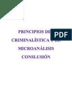 Principios de La Criminalistica y El Micronalisis CONSLUSION