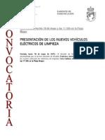 150518 CV- Presentación Vehículos Eléctricos de Limpieza