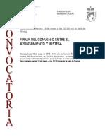 150518 CV- Firma Convenio Entre El Ayuntamiento y El Grupo Justesa