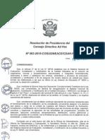 Resolución n063 2015 Cosusineace Cdah p