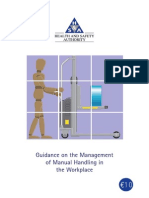 Guidance for Manual Handling