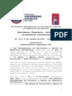 Convocatoria Reconocimientos Especiales 2015