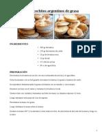 Biscochitos Argentinos de Grasa