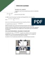 Choix Pompe centrifuge
