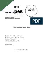Política de EP Conpes 3718