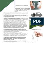 Acciones Para Minimizar El Efecto Del Calentamiento Global y Principales Reacciones Quimicas en El Ciclo Del Carbono Punto 1 y 8
