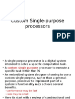 Custom Single-purpose Processors