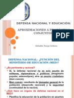 Defensa Nacional y Educación
