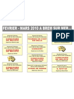 Calendrier des animations de Brem sur Brem de février à mars 210