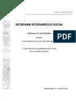 Comparecencia Secretaría de Desarollo Social