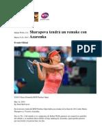 Sharapova Tendrá Un Remake Con Azarenka